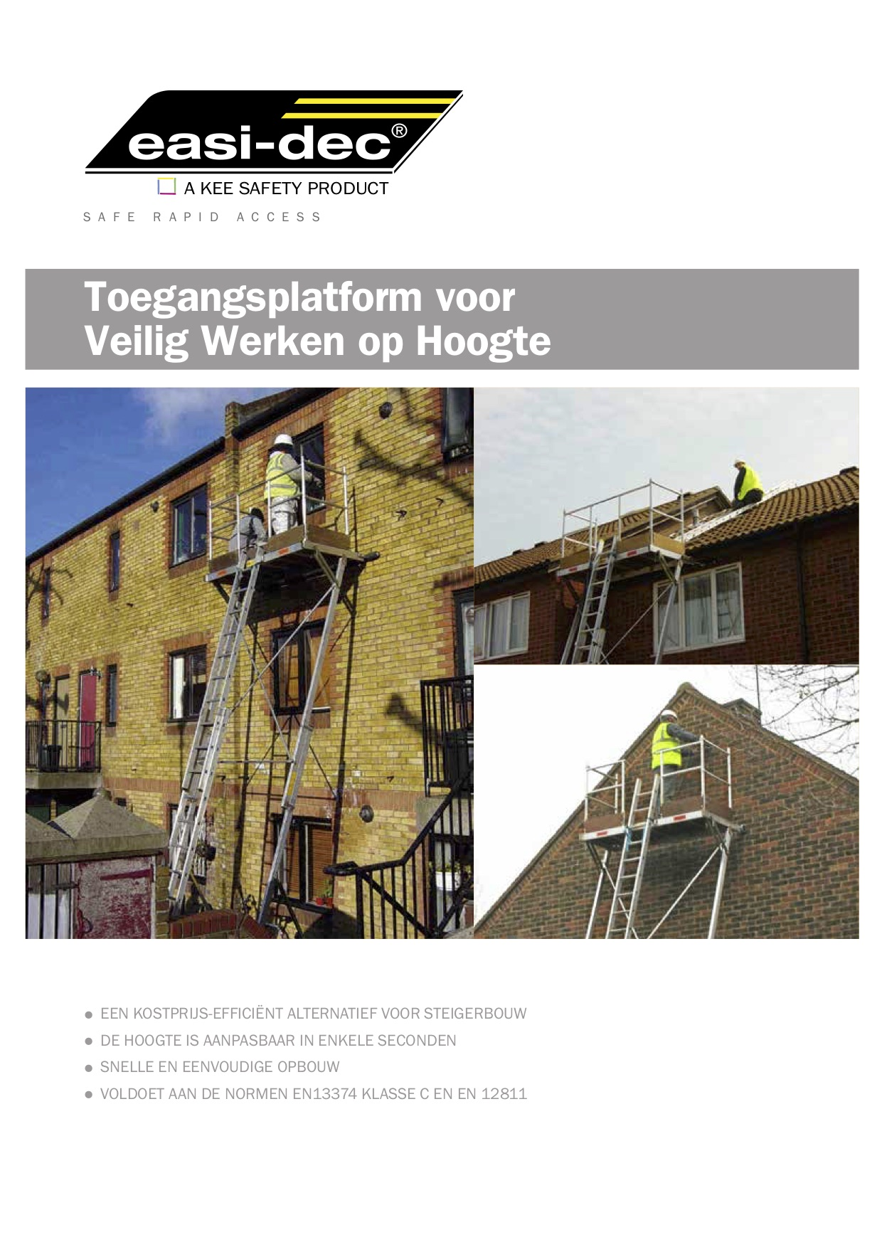 Easi Dec Steigersystemen brochure cover